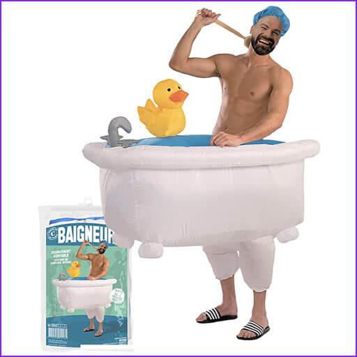 disfraz en la bañera