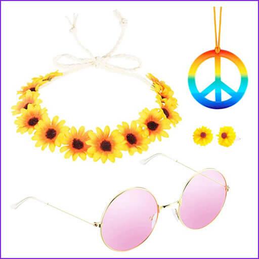 disfraces caseros hippie