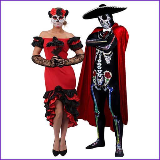 disfraz pareja dia de muertos