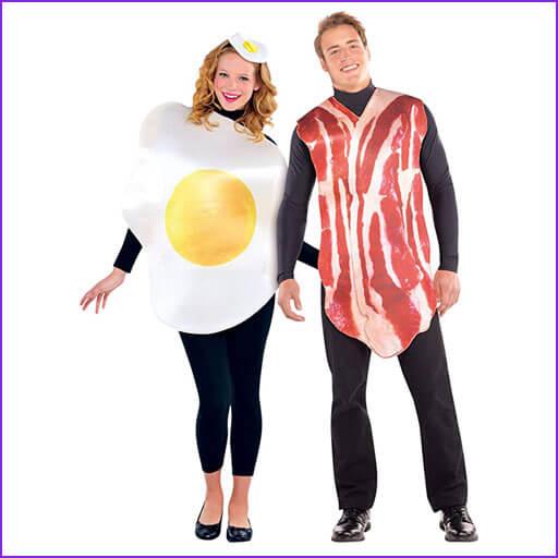 disfraz pareja jamon y huevo