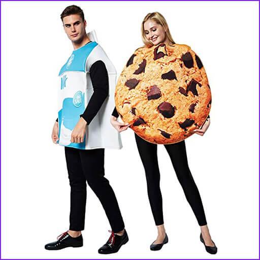 disfraz pareja leche con galleta