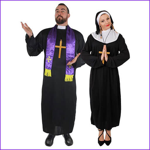 disfraz pareja monja y cura